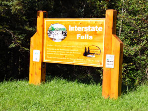 Interstate Falls sign